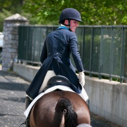 Jenny Caras and Fernhill Fortitude. Photo by Leslie Threlkeld.