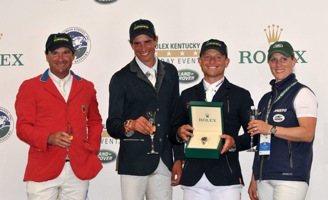 Phillip Dutton, Maxime Livio, Michael Jung and Zara Tindall. Photo by Leslie Threlkeld.