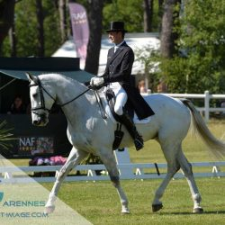 Mark Todd and Kiltubrid Rhapsody lead after the first day of dressage at Saumur. Photo by Les Garennes.