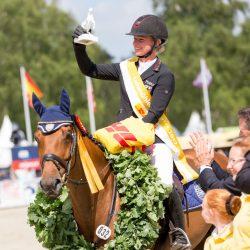 Luhmühlen winners Julia Krajewski and Samourai du Thot. Photo by Thomas Ix.