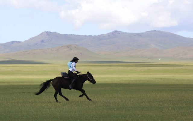 Wylie vs. the Mongol Derby, Powered by Fleeceworks: Leslie Leads Day 1!