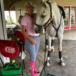 Sara Kozumplik-Murphy shows off her unicorns. Photo via Sara's FB page.