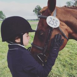 Pre-show ritual with Sugar at the Pony Cup. Photo courtesy of Miranda Levin.