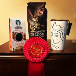 Valerie Vizcarrondo and Diablo Guapo took home some nice loot with their second place ribbon from Paradise Farm! Photo via Facebook.