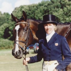 Kerry Millikin and Out and About at the 1998 World Equestrian Games. Photo by Brant Gamma.