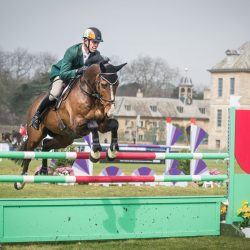 Jonty Evans and Cooley Rorkes Drift do the triple: a first run, first international, and first win of the season at Belton. Photo by Tilly Berendt.