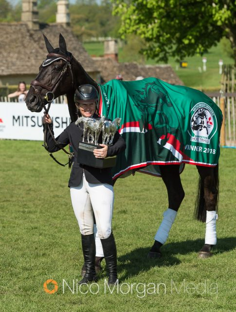 1bc9d87b19b7 Jonelle Price and Classic Moet during the show jumping phase at Mitsubishi  Motors Badminton Horse Trials