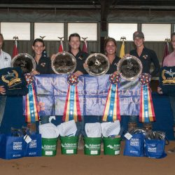 The Clemson Tigers were the winners of the 2017 USEA Intercollegiate Eventing Championship at Virginia Horse Trials. Photo by Leslie Threlkeld.