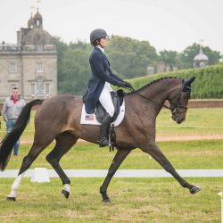 Hallie Coon and Celien perform their CICO3* dressage test. Photo by Tilly Berendt.