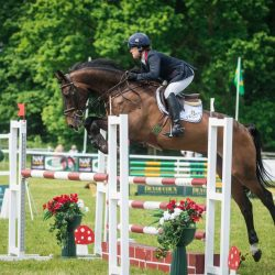 Pippa Funnell holds the lead - but shuffles her horses - going into cross country. Photo by Tilly Berendt.
