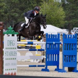 Doug Payne competing in the $25,000 City of Aiken Grand Prix in May 2017. Photo courtesy of the Aiken Horse Park Foundation.