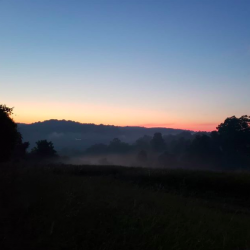 Sunrise near the summer solstice. Photo by Maggie Deatrick.