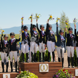 The 2018 NAYC CICOY2* podium. Congrats to all! Photo by Leslie Wylie.