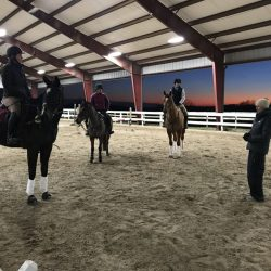 'Tis the season for learning stuff! Sinead Halpin braved 20-something temps to teach a clinic at Road Less Traveled Eventing    earlier this year. Photo by Katherine McDonough.