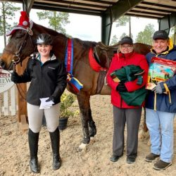 Kailey Burack and Gimlet were crowned Tadpole Champions and Overall Champions.  Photo courtesy of Stable View.