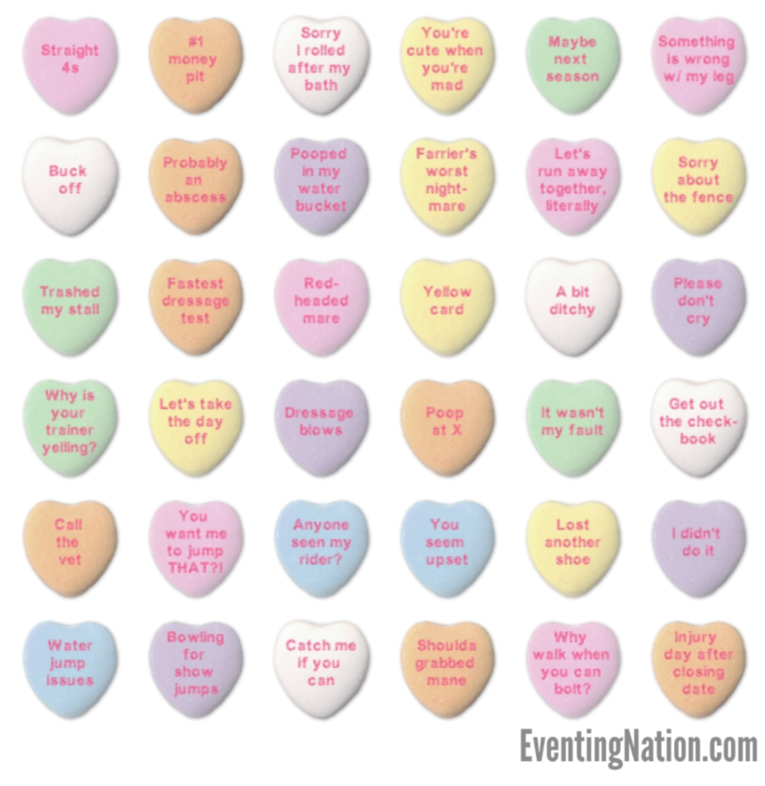 Event Horse Names Valentine S Day Edition Eventing Nation Three Day Eventing News Results Videos And Commentary