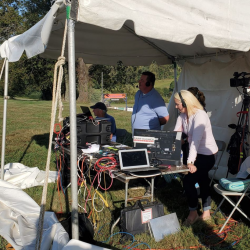Karen and Rob Bowersox of the Major League Eventing Podcast are providing commentary for the Plantation Field live stream, so you know it's going to be a good time! Photo by Sarah McGregor.