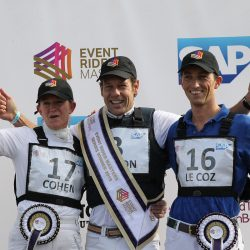 A year for the books: the 2019 ERM series podium. Photo courtesy of Event Rider Masters.