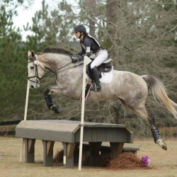 Taleen and Ash. Photo by GRC Photo at Stable View Horse Trials in January.