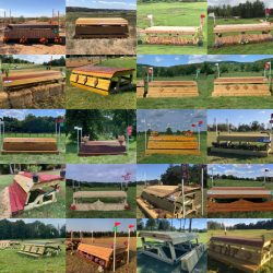 Some of the country's newest frangible fences! Photo courtesy of the USEA.
