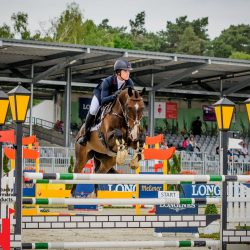 Ariel Grald and Leamore Master Plan experience plenty of airtime – in all manner of ways – to make their best-ever five-star result happen. Photo by Tilly Berendt.
