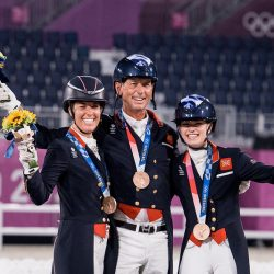 Great Britain Team bronze medalists. Photo by FEI/Shannon Brinkman.