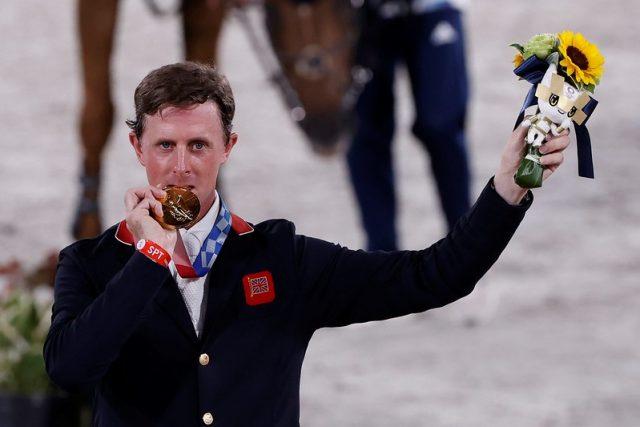 Ben Maher, gold medalist. Photo Copyright © FEI/EFE/Kai Försterling.