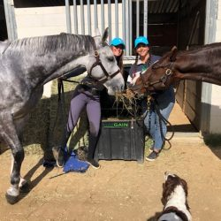 Early Haygain adopter Amy Westcott-Allen, left, of Team Willis Equestrian.