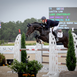 Leslie Law and Lady Chatterley won the CCI4*-S. Photo by Al Green Photo.